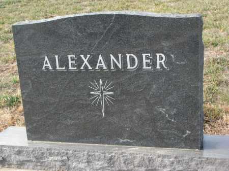 ALEXANDER, PLOT STONE - Stanton County, Nebraska | PLOT STONE ALEXANDER - Nebraska Gravestone Photos