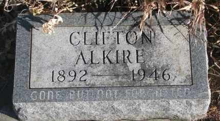 ALKIRE, CLIFTON - Stanton County, Nebraska | CLIFTON ALKIRE - Nebraska Gravestone Photos