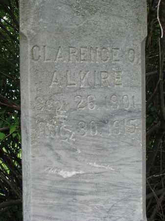 ALKIRE, CLARENCE O. (CLOSEUP) - Stanton County, Nebraska | CLARENCE O. (CLOSEUP) ALKIRE - Nebraska Gravestone Photos