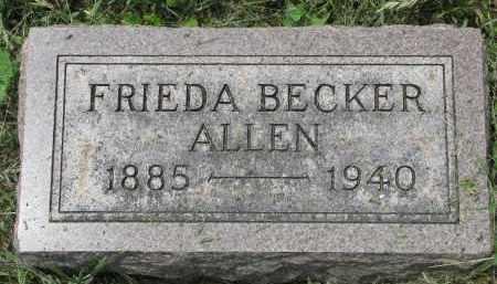 ALLEN, FRIEDA - Stanton County, Nebraska | FRIEDA ALLEN - Nebraska Gravestone Photos