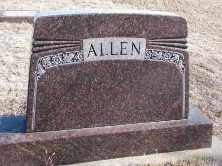 ALLEN, PLOT STONE - Stanton County, Nebraska   PLOT STONE ALLEN - Nebraska Gravestone Photos