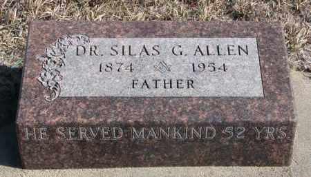 ALLEN, SILAS G. (DR.) - Stanton County, Nebraska | SILAS G. (DR.) ALLEN - Nebraska Gravestone Photos