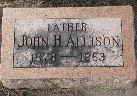 ALLISON, JOHN H. - Stanton County, Nebraska | JOHN H. ALLISON - Nebraska Gravestone Photos