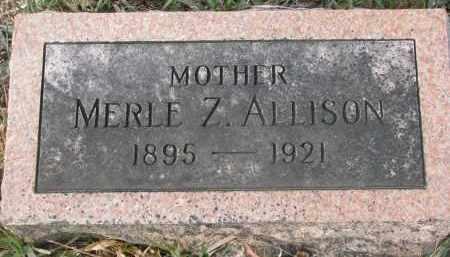 ALLISON, MERLE Z. - Stanton County, Nebraska   MERLE Z. ALLISON - Nebraska Gravestone Photos