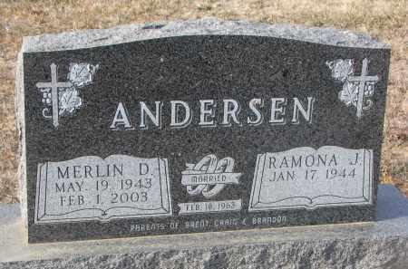 ANDERSEN, RAMONA J. - Stanton County, Nebraska | RAMONA J. ANDERSEN - Nebraska Gravestone Photos