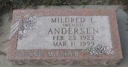 ANDERSEN, MILDRED L. - Stanton County, Nebraska | MILDRED L. ANDERSEN - Nebraska Gravestone Photos
