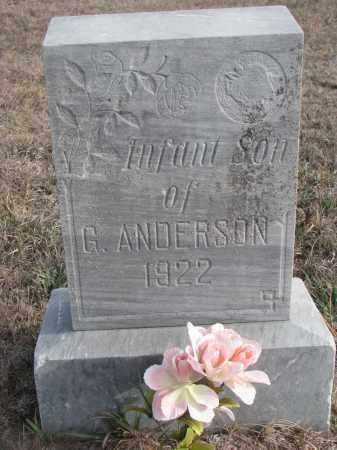 ANDERSON, INFANT SON - Stanton County, Nebraska | INFANT SON ANDERSON - Nebraska Gravestone Photos