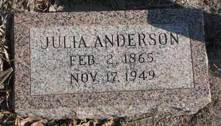 ANDERSON, JULIA - Stanton County, Nebraska | JULIA ANDERSON - Nebraska Gravestone Photos