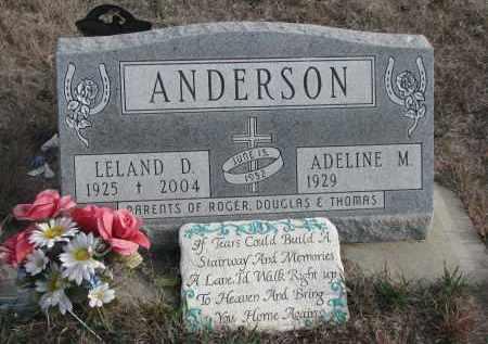 ANDERSON, LELAND D. - Stanton County, Nebraska | LELAND D. ANDERSON - Nebraska Gravestone Photos