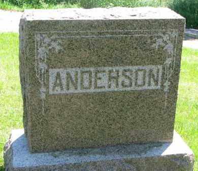 ANDERSON, PLOT STONE - Stanton County, Nebraska   PLOT STONE ANDERSON - Nebraska Gravestone Photos