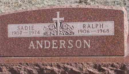 ANDERSON, SADIE - Stanton County, Nebraska | SADIE ANDERSON - Nebraska Gravestone Photos