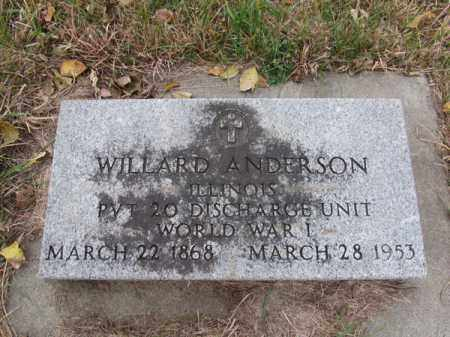 ANDERSON, WILLARD - Stanton County, Nebraska | WILLARD ANDERSON - Nebraska Gravestone Photos