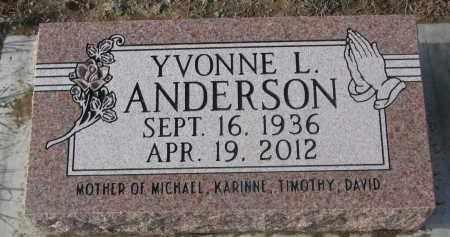ANDERSON, YVONNE L. - Stanton County, Nebraska | YVONNE L. ANDERSON - Nebraska Gravestone Photos