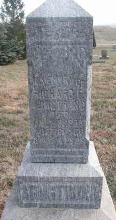 ARMSTRONG, RICHARD F. - Stanton County, Nebraska | RICHARD F. ARMSTRONG - Nebraska Gravestone Photos