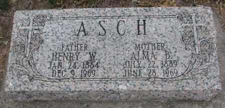 ASCH, HENRY W. - Stanton County, Nebraska | HENRY W. ASCH - Nebraska Gravestone Photos