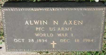 AXEN, ALWIN N. (WW I) - Stanton County, Nebraska | ALWIN N. (WW I) AXEN - Nebraska Gravestone Photos