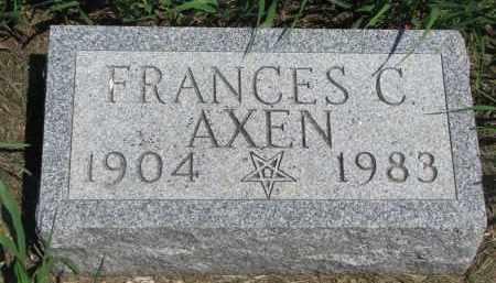 AXEN, FRANCES C. - Stanton County, Nebraska | FRANCES C. AXEN - Nebraska Gravestone Photos