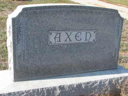 AXEN, PLOT STONE - Stanton County, Nebraska | PLOT STONE AXEN - Nebraska Gravestone Photos