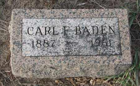 BADEN, CARL F. - Stanton County, Nebraska   CARL F. BADEN - Nebraska Gravestone Photos