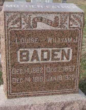 BADEN, LOUISE - Stanton County, Nebraska | LOUISE BADEN - Nebraska Gravestone Photos