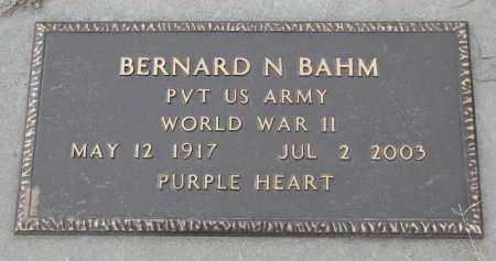 BAHM, BERNARD N. (WW II) - Stanton County, Nebraska | BERNARD N. (WW II) BAHM - Nebraska Gravestone Photos
