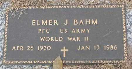 BAHM, ELMER J. - Stanton County, Nebraska | ELMER J. BAHM - Nebraska Gravestone Photos
