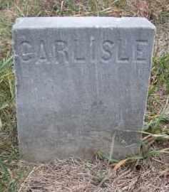 BARE, CARLISLE (FOOTSTONE) - Stanton County, Nebraska | CARLISLE (FOOTSTONE) BARE - Nebraska Gravestone Photos