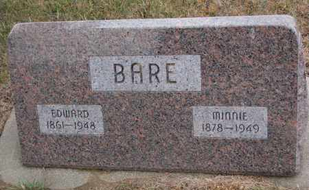 BARE, EDWARD - Stanton County, Nebraska | EDWARD BARE - Nebraska Gravestone Photos