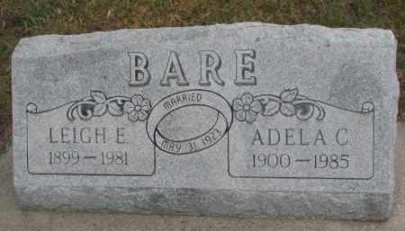 BARE, LEIGH E. - Stanton County, Nebraska | LEIGH E. BARE - Nebraska Gravestone Photos