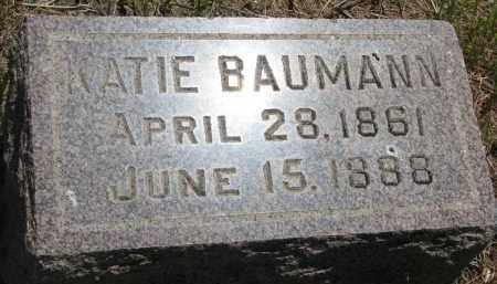 BAUMANN, KATIE - Stanton County, Nebraska | KATIE BAUMANN - Nebraska Gravestone Photos