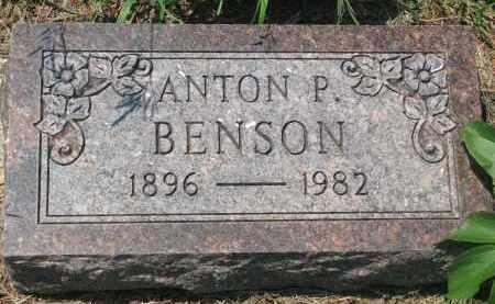 BENSON, ANTON P. - Stanton County, Nebraska   ANTON P. BENSON - Nebraska Gravestone Photos