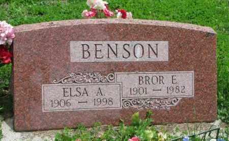 BENSON, ELSA A. - Stanton County, Nebraska | ELSA A. BENSON - Nebraska Gravestone Photos