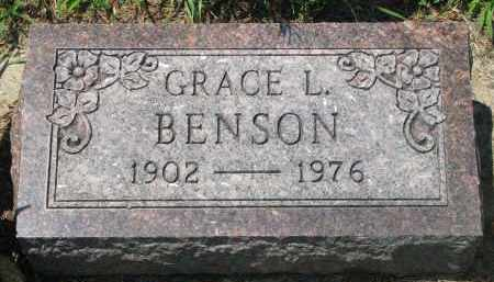 BENSON, GRACE L. - Stanton County, Nebraska | GRACE L. BENSON - Nebraska Gravestone Photos