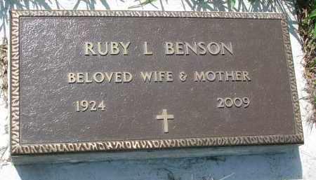 BENSON, RUBY L. - Stanton County, Nebraska | RUBY L. BENSON - Nebraska Gravestone Photos