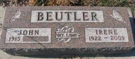 BEUTLER, IRENE - Stanton County, Nebraska | IRENE BEUTLER - Nebraska Gravestone Photos