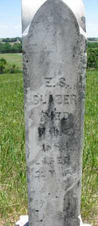 BLAZER, E.S. - Stanton County, Nebraska   E.S. BLAZER - Nebraska Gravestone Photos
