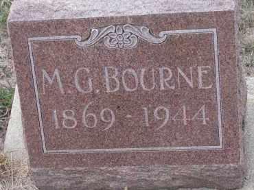 BOURNE, M.G. - Stanton County, Nebraska | M.G. BOURNE - Nebraska Gravestone Photos