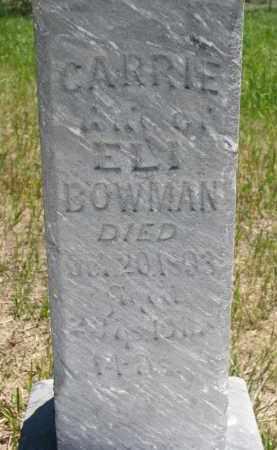 BOWMAN, CARRIE (CLOSEUP) - Stanton County, Nebraska | CARRIE (CLOSEUP) BOWMAN - Nebraska Gravestone Photos