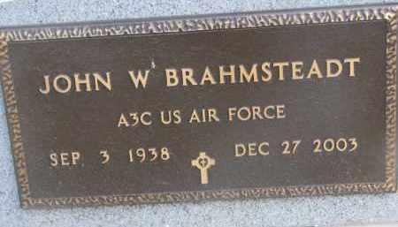 BRAHMSTEADT, JOHN W. (MILITARY) - Stanton County, Nebraska   JOHN W. (MILITARY) BRAHMSTEADT - Nebraska Gravestone Photos