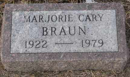 CARY BRAUN, MARJORIE - Stanton County, Nebraska | MARJORIE CARY BRAUN - Nebraska Gravestone Photos