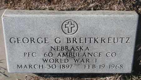 BREITKREUTZ, GEORGE G. (WW I) - Stanton County, Nebraska | GEORGE G. (WW I) BREITKREUTZ - Nebraska Gravestone Photos