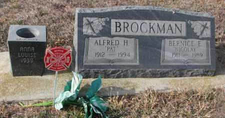 BROCKMAN, BERNICE E. - Stanton County, Nebraska   BERNICE E. BROCKMAN - Nebraska Gravestone Photos