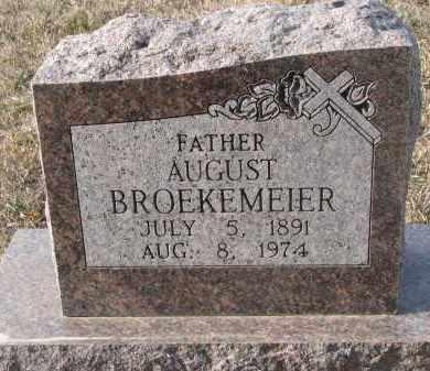 BROEKEMEIER, AUGUST (CLOSEUP) - Stanton County, Nebraska | AUGUST (CLOSEUP) BROEKEMEIER - Nebraska Gravestone Photos