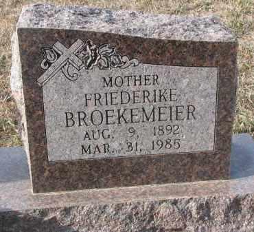 BROEKEMEIER, FRIEDERIKE (CLOSEUP) - Stanton County, Nebraska | FRIEDERIKE (CLOSEUP) BROEKEMEIER - Nebraska Gravestone Photos