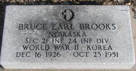 BROOKS, BRUCE EARL - Stanton County, Nebraska | BRUCE EARL BROOKS - Nebraska Gravestone Photos