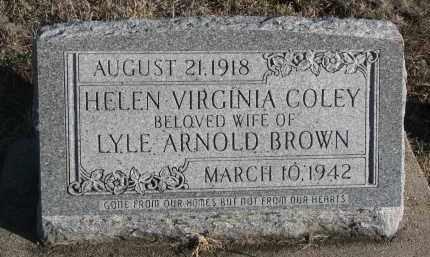 COLEY BROWN, HELEN VIRGINIA - Stanton County, Nebraska | HELEN VIRGINIA COLEY BROWN - Nebraska Gravestone Photos