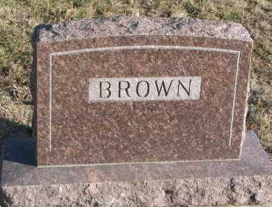 BROWN, PLOT STONE - Stanton County, Nebraska | PLOT STONE BROWN - Nebraska Gravestone Photos
