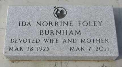 BURNHAM, IDA NORRINE - Stanton County, Nebraska | IDA NORRINE BURNHAM - Nebraska Gravestone Photos