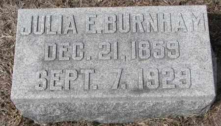 BURNHAM, JULIA E. - Stanton County, Nebraska | JULIA E. BURNHAM - Nebraska Gravestone Photos