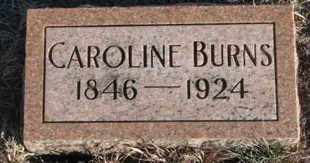 BURNS, CAROLINE - Stanton County, Nebraska | CAROLINE BURNS - Nebraska Gravestone Photos